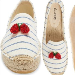 Soludos strawberry stripes espadrille